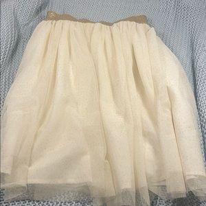 GAP Kids sparkly shirt tulle skirt
